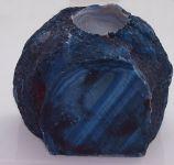 2.Svícen na čajovou svíčku modrý Achát.